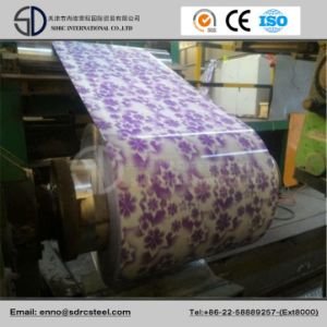 Flower Designed for Decorating Steel Coil Grain PPGI pictures & photos