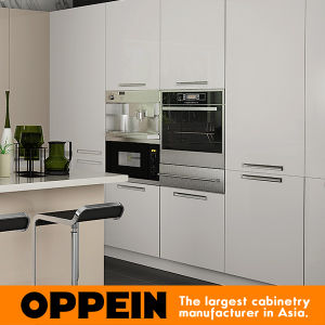Oppein Hot Sale Light Color Acrylic Wood Kitchen Cabinet (OP15-A04) pictures & photos