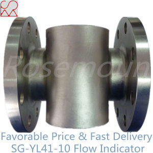 Tianhe Flange Type Sight Glass Water Flow Indicator with Rotor pictures & photos
