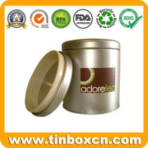 Round Airtight Round Tea Tin with Food Grade pictures & photos
