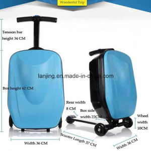 Hot Sell China Supplier Fation Travelling Bag Luggage Scooter Suitcase pictures & photos