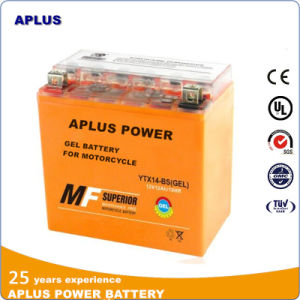 High Capacity Ytx14-BS 12V 14ah Gel Batteries for Motorcycle pictures & photos