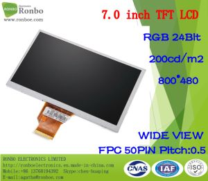 """7.0"""" 800X480 RGB 50pin 200CD/M2 ODM GPS TFT LCD Screen pictures & photos"""