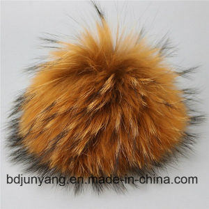 Fashion Kids Knitted Cap with Real Raccoon Fur Balls Hats pictures & photos