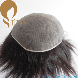 Accept Customized Order Toupee Full Mono Base Hair Systems pictures & photos