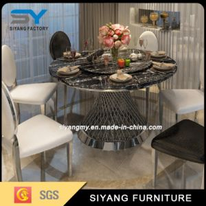 Luxury Rose Gold Paiting Stainless Steel Furniture Dining Table pictures & photos