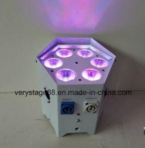 Irc Rechargeable Battery &Wireless Party DJ 6PCS X 18W Rgbwauv DMX LED PAR Light pictures & photos