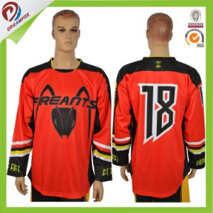 Quick Dry Custom Logo Sublimation Hockey Jersey pictures & photos