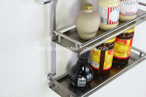 2017 Foshan Factory Fashion Kitchen Double Spice Rack (612) pictures & photos