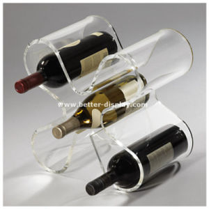Clear Acrylic Wine Bottle Holder pictures & photos