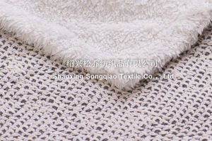 New Design Heavy Thread Sherpa Baby Blanket pictures & photos