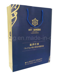 Diversified Latest Designs Classical Small Blue Paper Gift Bag pictures & photos