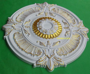Golden PU (polyurethane) Foam Material PU Medallion for Ceiling Decoration pictures & photos