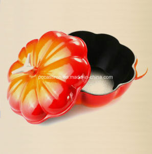 LFGB Ce FDA SGS Approved Cast Iron Pumpkin Casserole with Enamel Coating pictures & photos