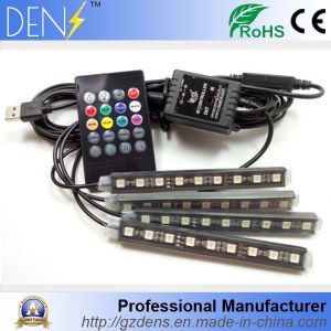 9LED RGB Remote Control Car Ambient Light with USB pictures & photos