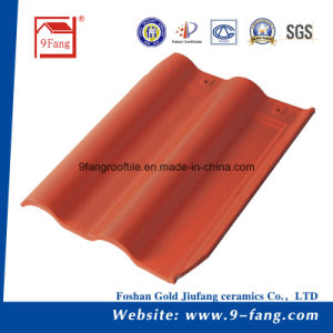 Building Material Clay Ceramic Villa Interlocked Roof Tile 300*400mm pictures & photos