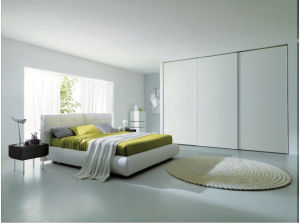 White Sliding Door Wardrobe pictures & photos
