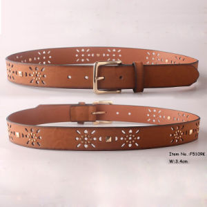Fashion Ladies PU Leather Belt (F5109K) pictures & photos