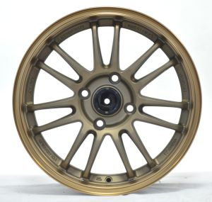Four holes aftermarket alloy wheel with brown machine face pictures & photos