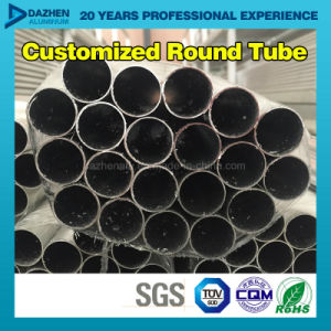 Round Tube Pipe 6063 T5 Aluminum Profile with Anodized Mill Finished pictures & photos