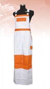 High Visibility White Orange Polyester/Cotton Workwear Bib Overalls