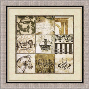 Hand-Painted Abstract Oil Painting with Wooden Frame for Puzzle