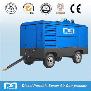 247cfm 7bar Diesel Portable 2 Wheel Air Compressor for Digging pictures & photos