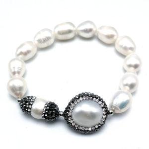 Handmade Jewellry Nature Pearl Bracelet with Gemstone Summer Jewelry