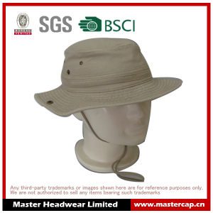 Washing Cowboy Bucket Hat Fishing Hat with Chin Strap for Adults pictures & photos