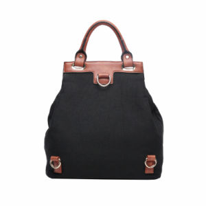 Black Canvas Casual Preppy Style Women Backpack Handbag (MBNO041003) pictures & photos