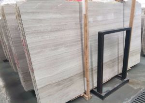 2017 Grey Grain Wooden Marble White Oak Slab for Interior Decoration pictures & photos