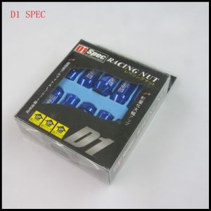 D1 Spec 7075 Aluminum Blue Racing Car Wheel Lock Nuts.
