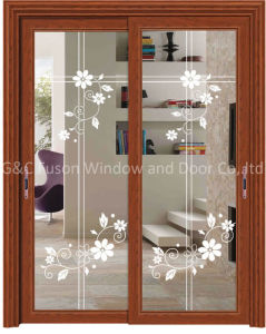 Balcony/Kitchen Sliding Glass Timber/Wooden/Wood Door (6708) pictures & photos
