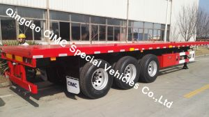 Cimc 40feet Flatbed Semi Truck Trailer pictures & photos