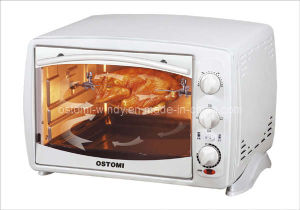 White Electric Toaster Oven with Convection, Rotisserie Function, 1380W