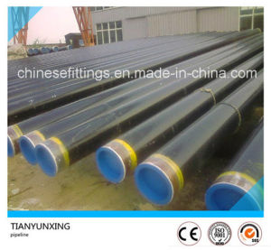 3PE Coating Pipeline Steel Pipes with Plastic Cap pictures & photos
