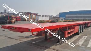 Cimc 40feet Flatbed Semi Truck Trailer Chassis pictures & photos
