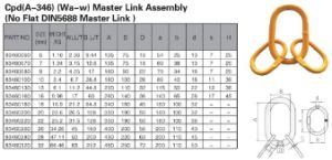 Cpd(A-346)(Wa-w)Master link Assembly pictures & photos