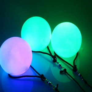 Light up Swinging LED Poi Balls with Wrist Strap pictures & photos