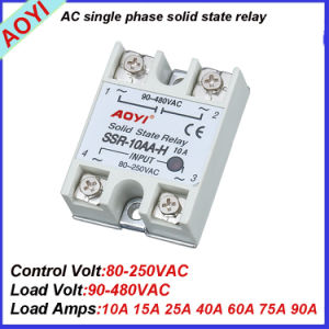 Hot Sale 400V 440V 220V AC 25A Input SSR SSR-25AA-H pictures & photos