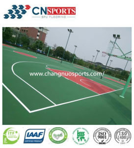 Indoor and Outdoor Sports Venues Cushion Polyurethane Flooring pictures & photos