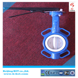 Wafer Type PTFE Seaing Butterfly Valve with Handle DIN, En, ANSI Standard Bct-F4bfv-15 pictures & photos