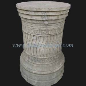 Antique Finish White Marble Pedestal pictures & photos