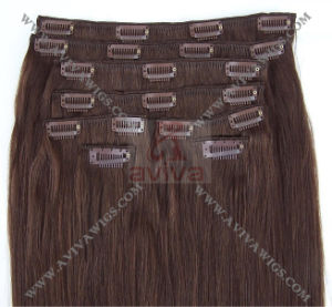 Human Hair Extension Clip in Hair pictures & photos