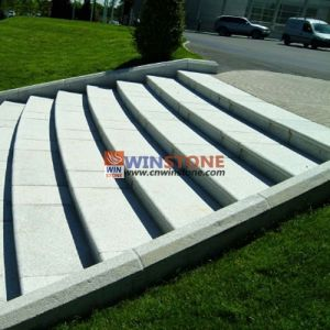 Silver Grey Granite Arc Stairs