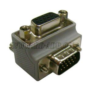 VGA Male/Female Right Angle Adapter Low Profile