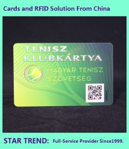 Plastic Card with Barcode for Club Member pictures & photos