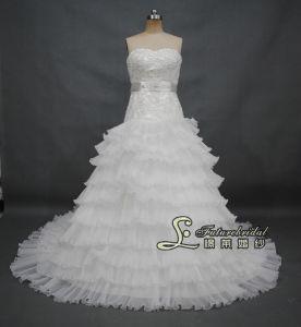 2014 English Net Wedding Dress and Drop Waist Wedding Dress Gown (02505)