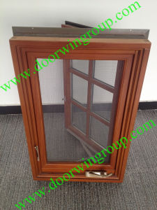 USA Most Popular Wood Aluminum Casement Window with Transom pictures & photos