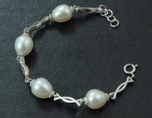 925 Silver Jewelry + Freshwater Pear Bracelet (WSTPA00668) pictures & photos